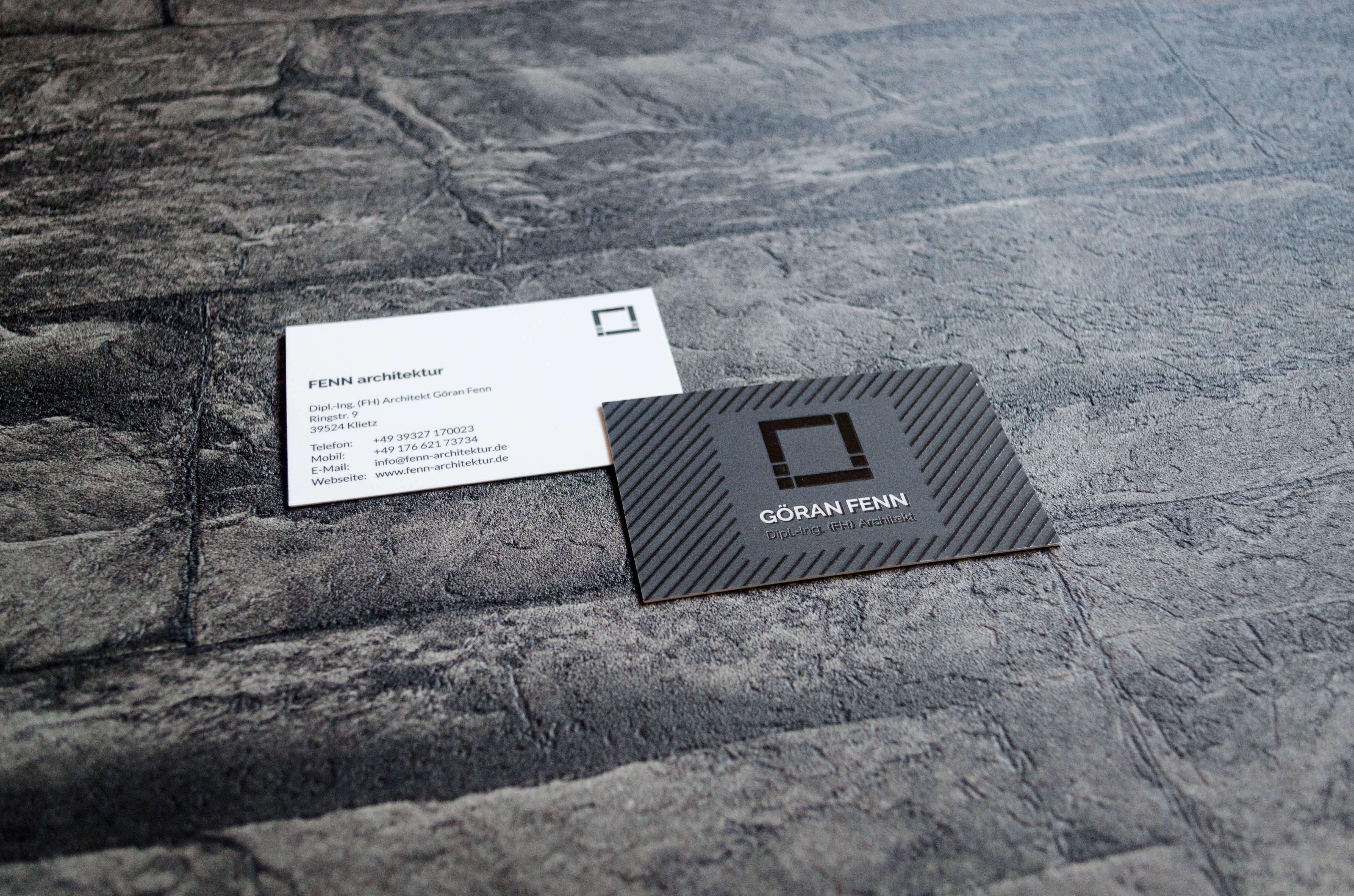 Grafikdesign: Visitenkarte für den Architekten Göran Fenn
