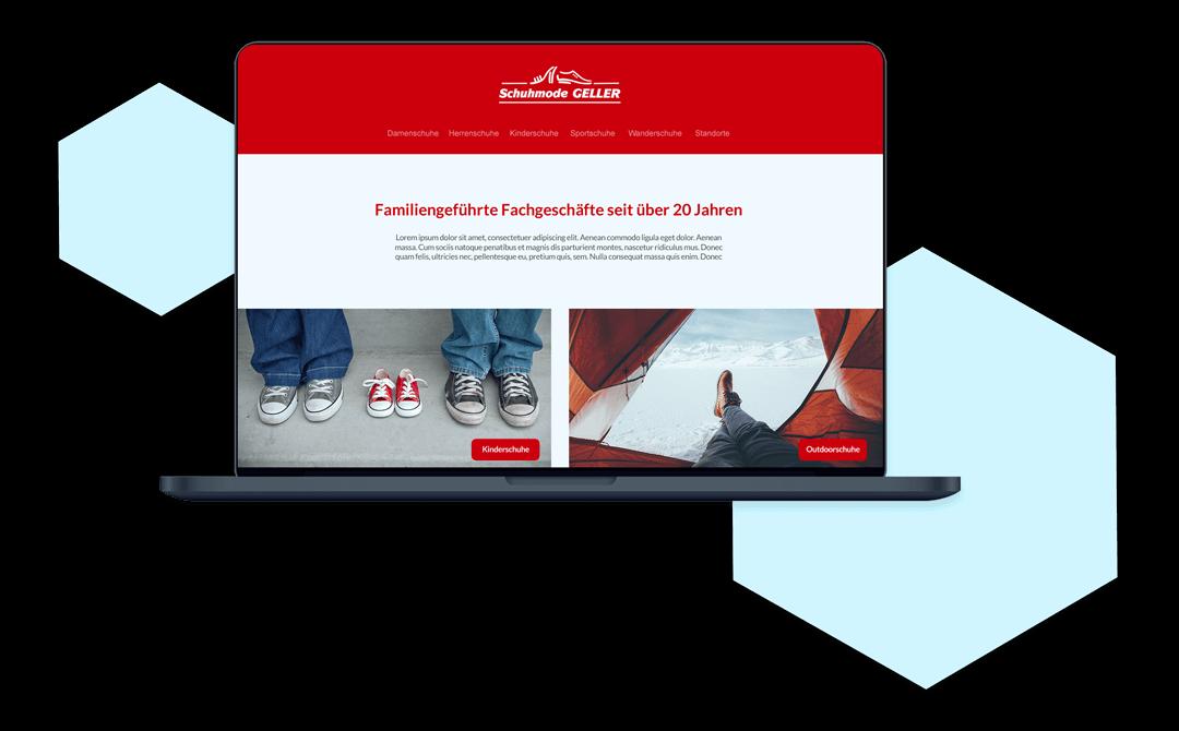 responsive Webdesign für Schuhmode Geller |Laura Köln Designs