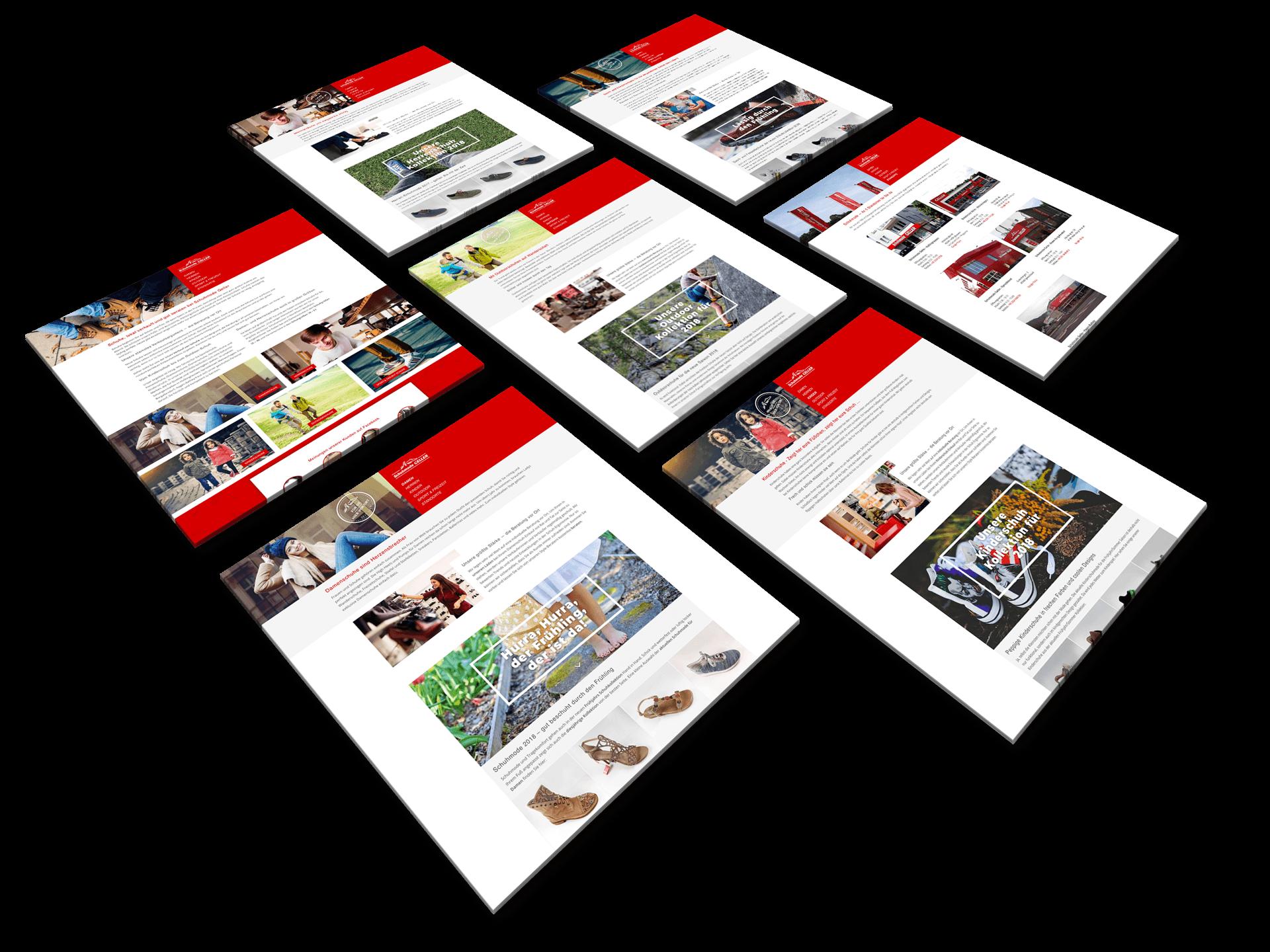 responsive Webdesign für Schuhmode Geller
